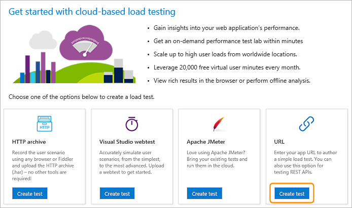 Get started with cloud-based load testing