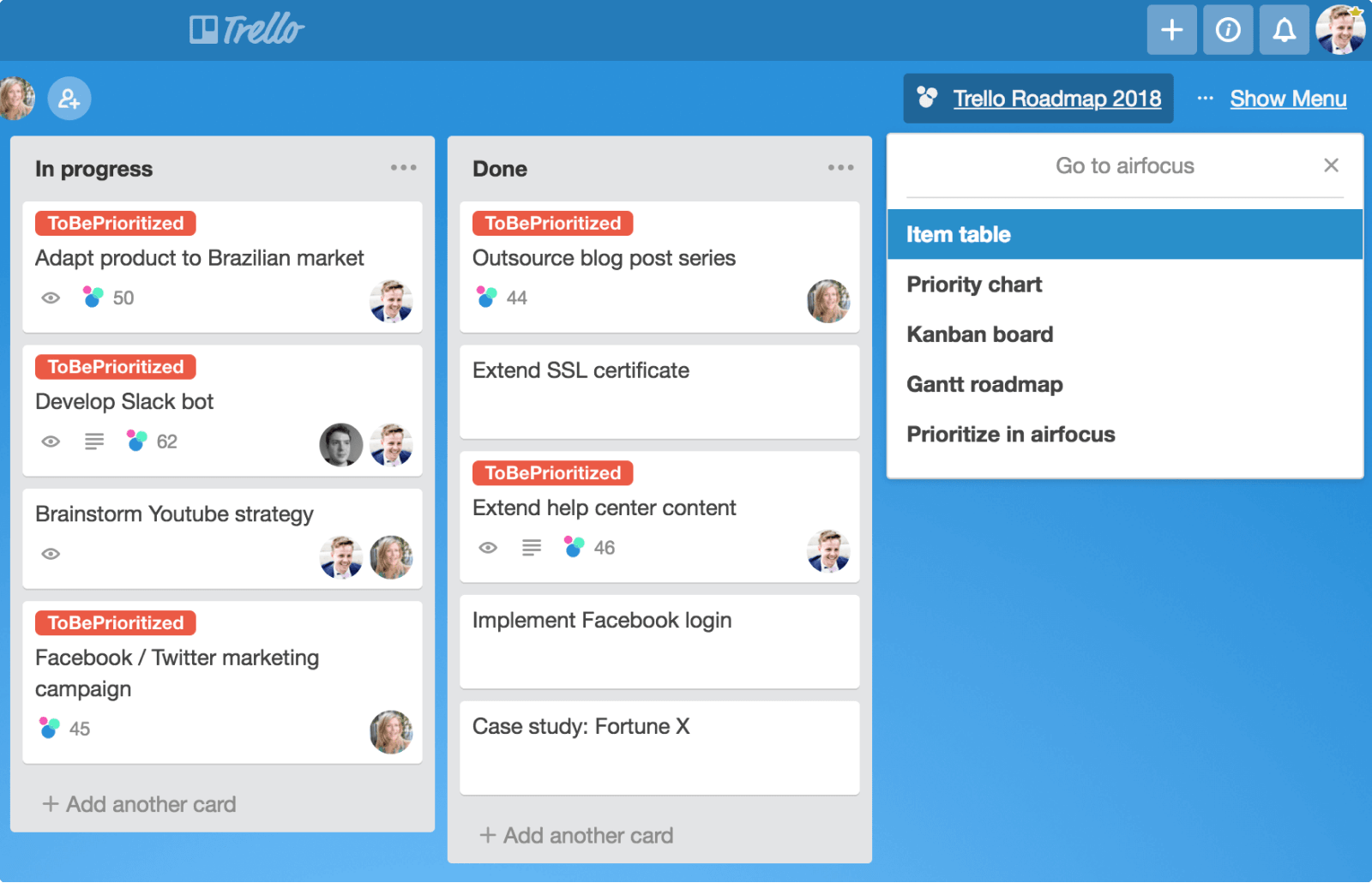 Trello bug tracking software