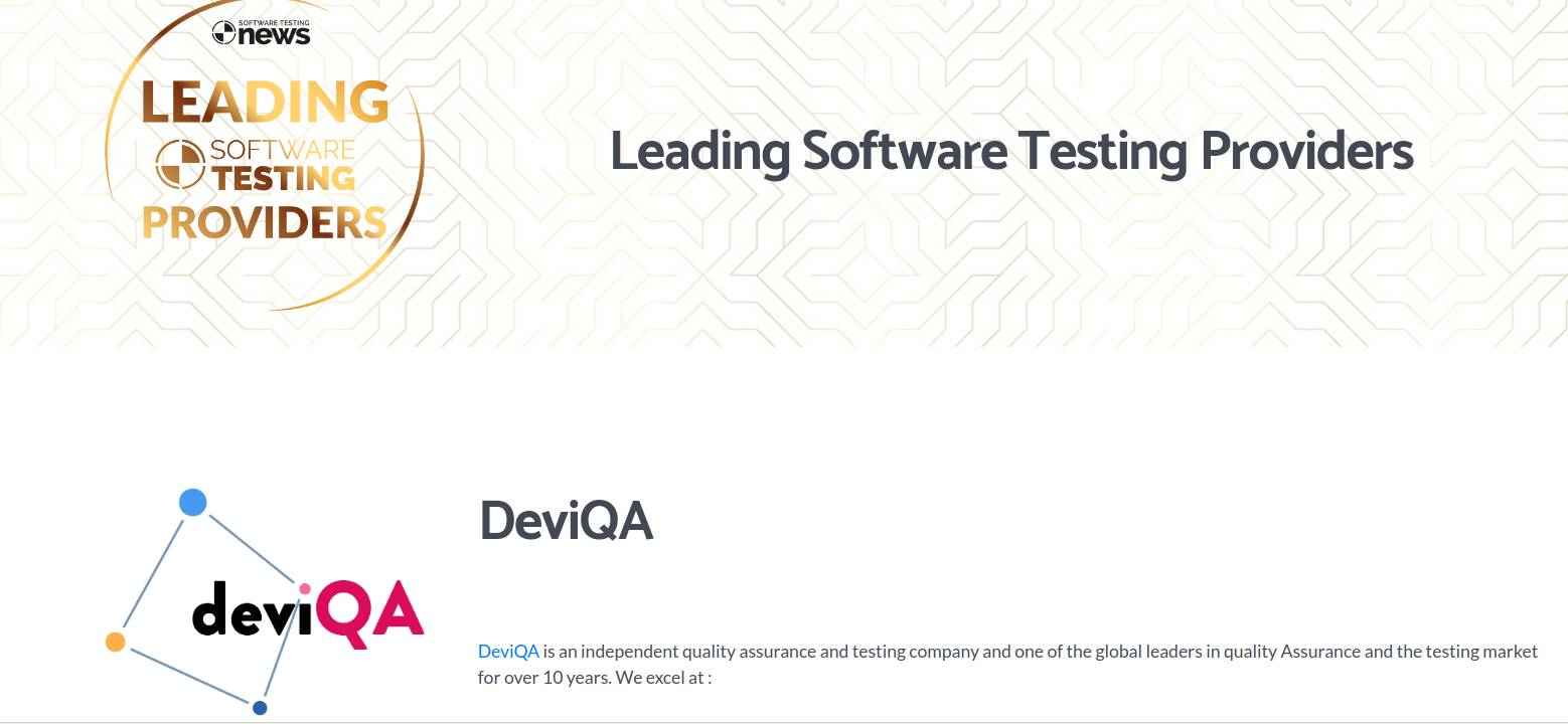 DeviQA is a leading software testing company