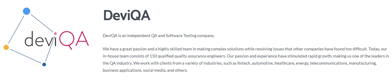 DeviQA - The Best Software Testing Company