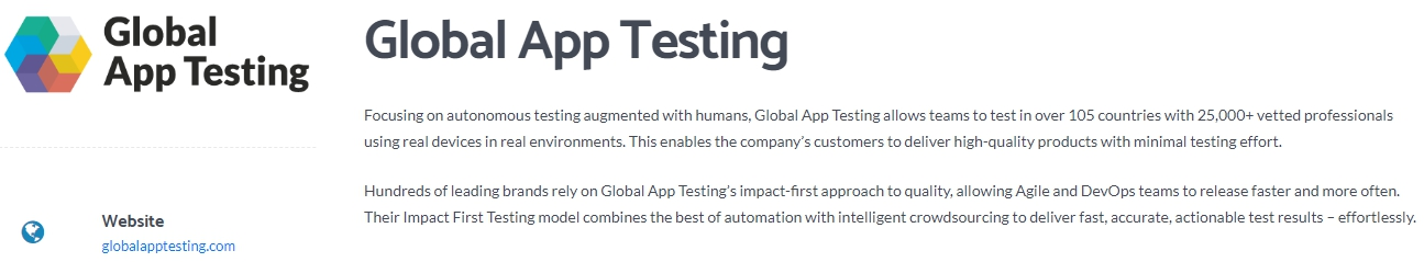 Global App Testing - Leading Crowdsourced Software Testing Company