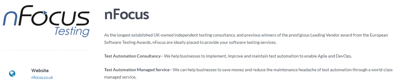 nFocus - Top Independent Testing Consultancy Company