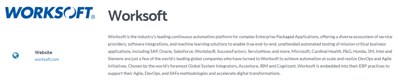 Worksoft - Leading Automation Testing Platform